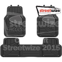 Celebrity - Deluxe Rubber Car Mat Set with Full Cross Rear