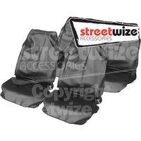 Full Set Nylon Seat Covers-Grey