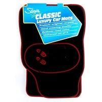 Black Carpet Red Trim Welly Detail