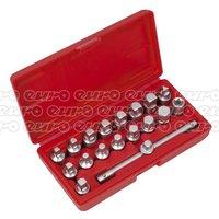 AK6586 Oil Drain Plug Key Set 19pc - 3/8