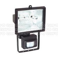 MD520C Tungsten/Halogen Floodlight Wall Bracket&PIR Sensor 500W/230V