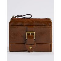 Leather Buckle Purse with Cardsafe™ tan