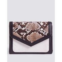 Faux Leather Colour Block Purse with Cardsafe™ black mix