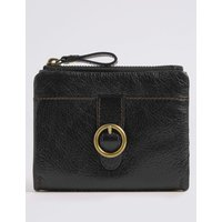 Leather Medium Purse black