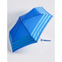 Striped Compact Umbrella with Stormwear™ blue mix