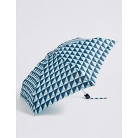 Spotted Compact Umbrella with Stormwear™ blue mix