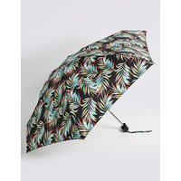 Printed Compact Umbrella with Stormwear™ black mix