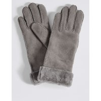 Leather Gloves grey