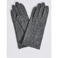 Stitch Detail Gloves grey mix