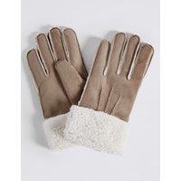 Faux Fur Shearling Gloves natural