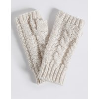 Cable Knit Gloves cream