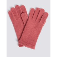Knitted Touchscreen Gloves pink