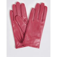 Leather Stitch Detail Gloves pink