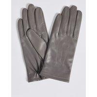 Leather Stitch Detail Gloves grey
