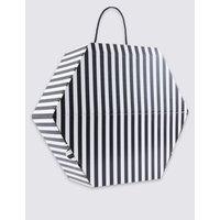 Monochrome Striped Hat Box black mix