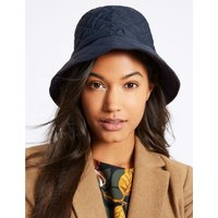 Quilted Popper Strap Winter Hat navy
