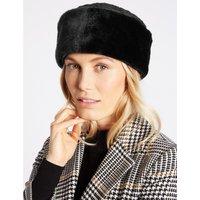 Quilted Fur Hat black