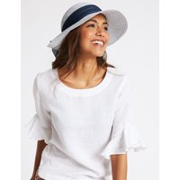Woven Scarf Trim Sun Hat navy mix