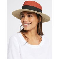 Colour Block Fedora Hat black mix