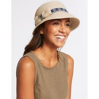 Stripe & Trim Sun Hat natural