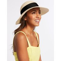 Grosgrain Trim Sun Hat natural