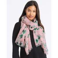 Floral Print Scarf pink mix