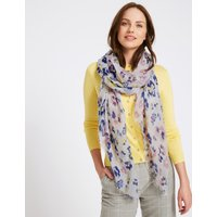 Ditsy Floral Print Scarf cream mix