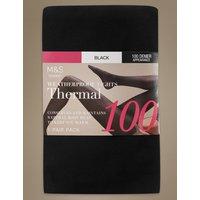 100 Denier Thermal Tights black