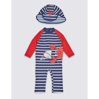 2 Piece Crab Swimsuit Set (3 Months - 7 Years) poppy mix