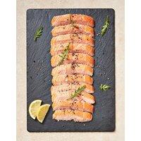 Half Side of Honey Roast Hot Smoked Salmon