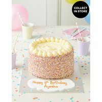 Extra Large Rainbow Layers Personalised Cake (Serves 32) at Marks and Spencer Online