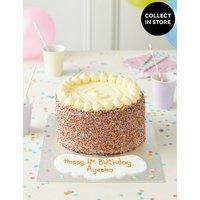Extra Large Rainbow Layers Personalised Cake (Serves 32)