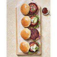 Veggie Lentil & Beetroot Burgers (Serves 4)