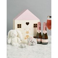 Baby Girl Gift with Rosado Cava Prestige, Marc de Champagne Truffles & Soft Toy
