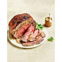 British Boneless Rib of Beef with Porcini