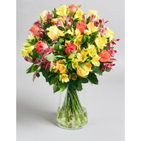 Fairtrade Rose & Alstromeria Bouquet (Pre-Order: Available from 3rd May 2018)