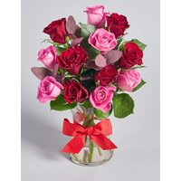 Valentine's Dozen Rose Vase (Pre-Order: Available from 10th February 2018)