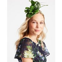M&S Collection Feather Twisted Bow Fascinator