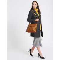 MandS Collection Faux Leather Grainy Messenger Bag