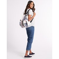 M&S Collection Pure Cotton Striped Backpack Bag