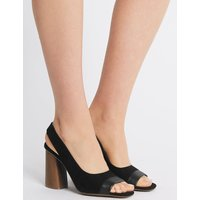 M&S Collection Peep Toe Slingback Sandals