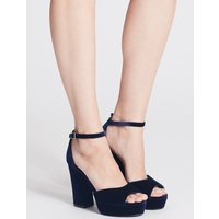 M&S Collection Two Part Block Heel Sandals