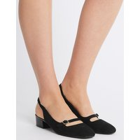 M&S Collection Block Heel Slingback Court Shoes