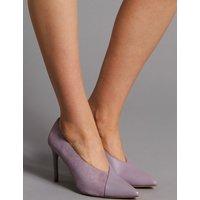 Autograph Leather Stiletto Heel Wrap Court Shoes