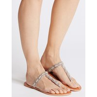 M&S Collection Beaded Toe Sandals