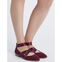 M&S Collection Wide Fit Suede Point Pump Shoes