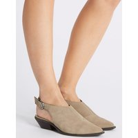 M&S Collection Suede Block Heel Slingback Shoes