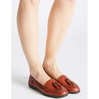 Footglove Leather Tassel Slip-on Pump Shoes