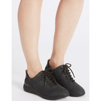 M&S Collection Wide Fit Suede Lace-up Trainers
