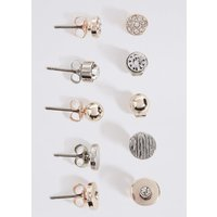 M&S Collection Mixed Stud Earrings Set